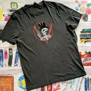 John Varvatos Tophat Skull Peace Graphic T Shirt